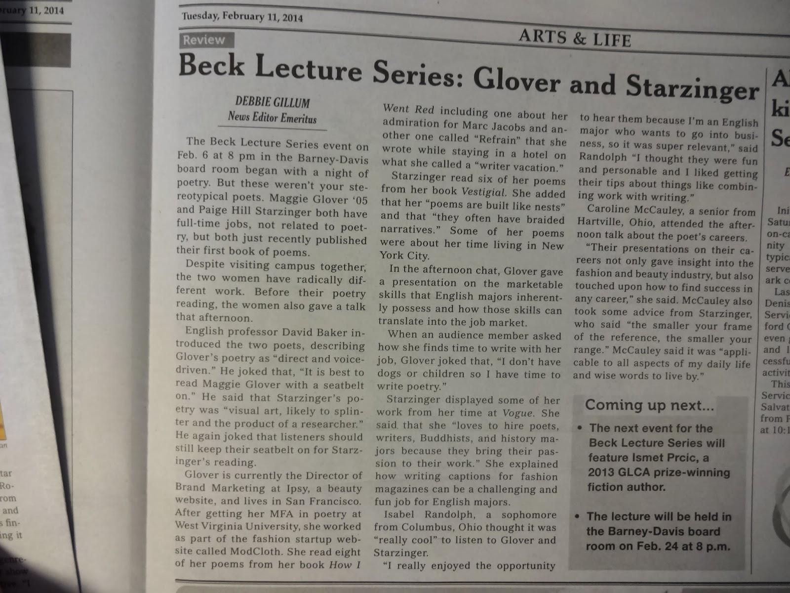 Beck Lecture Debbie Gillum