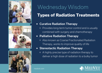 It can be scary when your best buddy is diagnosed with cancer. At MedVet, we offer different types on Radiation Therapy Treatments to safely and effectively treat cancer in pets. Read some FAQs about Radiation Oncology services: https://www.medvetforpets.com/frequently-asked-questions-faq-radiation-oncology-dogs-cats/